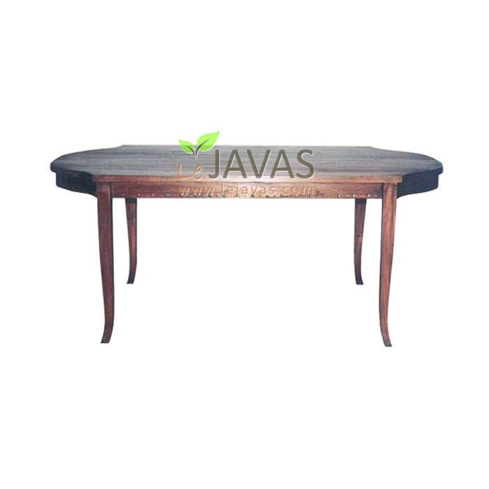 Teak Indoor Oval Columb Dining Table - Teak Dining Table For Wholesale